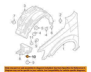 Nissan Oem Fender Liner Splash Shield Push Clip Retainer