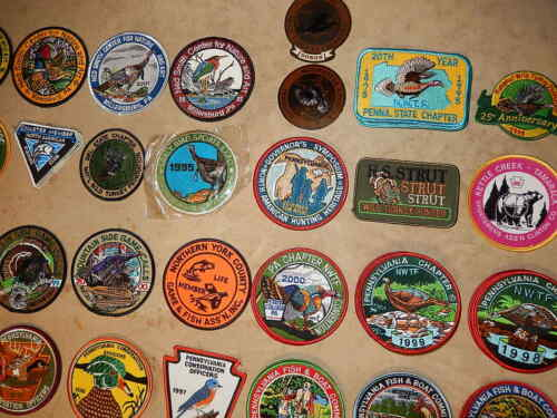 112 Vintage Embroidered Patches /'90///'00 Nature Hunting Ltd Edition PA **CHOICE**