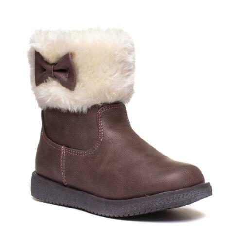 Girls Boot Faux Fur Top Boot in Pink by Walkright