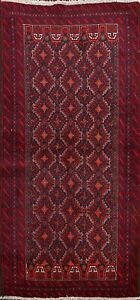 Excellent-Balouch-Geometric-Tribal-Area-Rug-Hand-knotted-Wool-Foyer-Carpet-4-039-x6-039