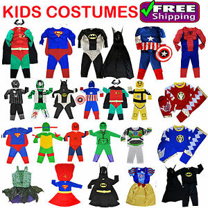 Image is loading NEW-SIZE-1-10-KIDS-CHILDREN-SUPERHERO-PARTY-  sc 1 st  eBay & NEW SIZE 1-10 KIDS CHILDREN SUPERHERO PARTY COSTUMES BIRTHDAY BOYS ...