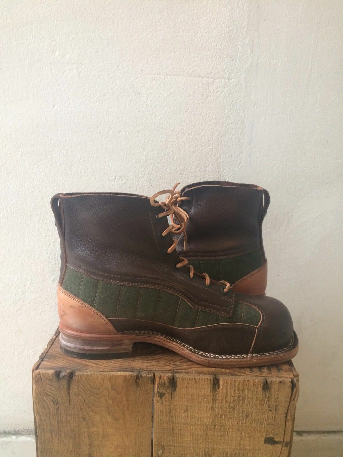 Swedish Mountain Army Boots  Leather Uppers eu 42 42 eu Vintage Surplus hobnail 36c6d6
