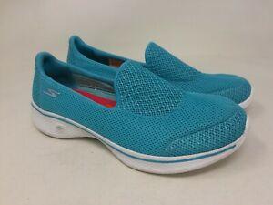 NUOVO-da-Donna-Skechers-14170-Gowalk-4-Scarpe-Da-Passeggio-Propel-Turchese-Q60