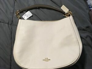 0b84b72d228f Image is loading New-Authentic-Coach-F31399-IMCHK-Leather-Elle-Hobo-