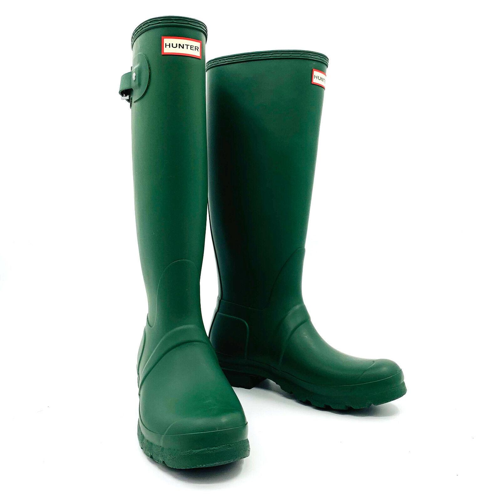 Hunter Original Tall Matte Green Rainboots Womens Size 9