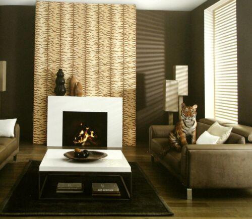Fleece Wallpaper Zambezi Tiger Yellow Braun 5900-11 erismann New Boxed