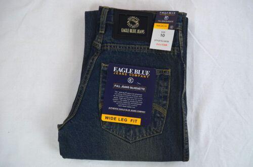 Boy Wide Leg Medium Blues jeans Eagle blue jeans 100/% Cotton Solid Size 8 10 12