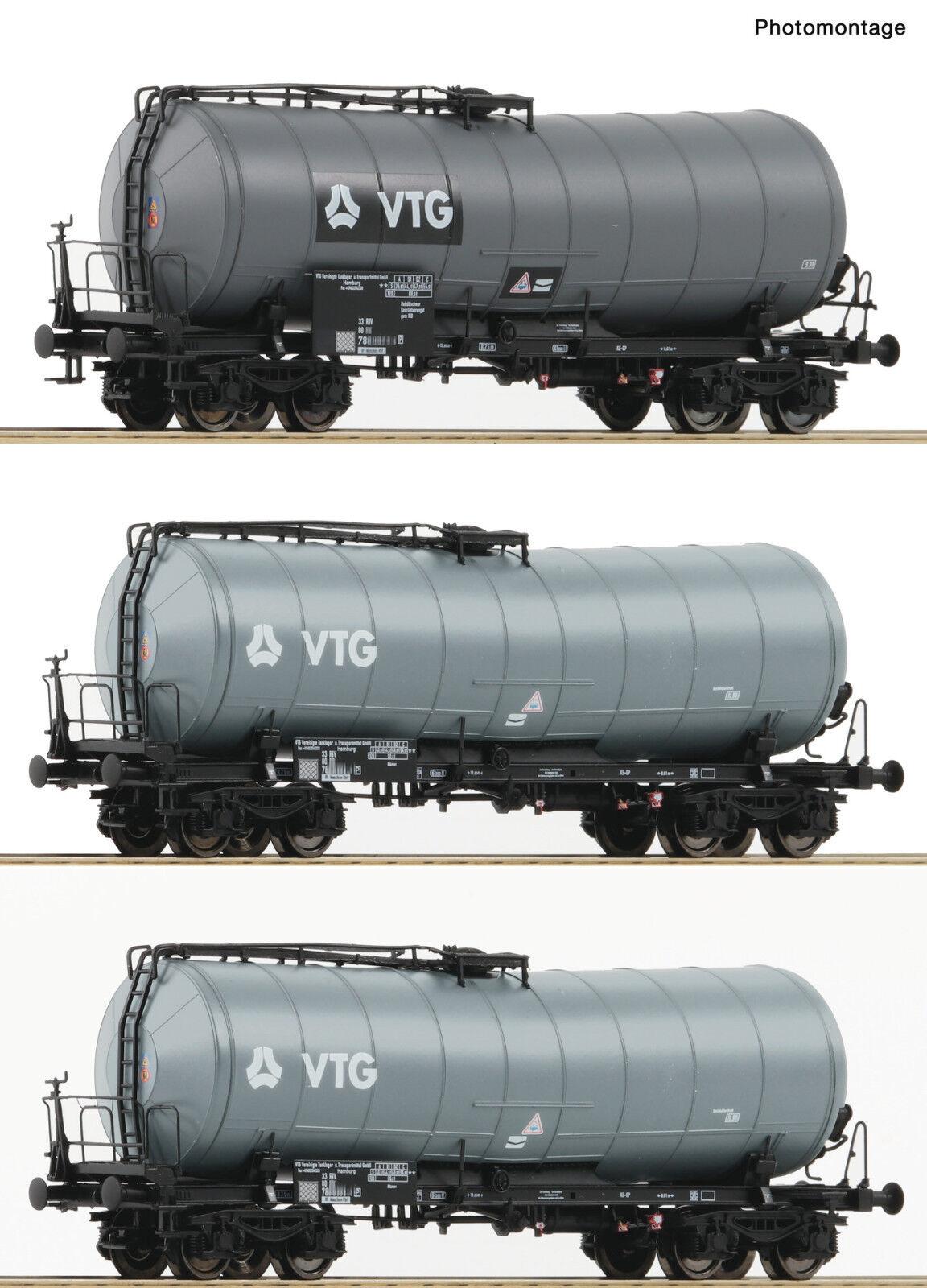 ROCO 76126 Set 3 scatto caldaia carrello VTG DB EP V-VI achstausch per   GRATIS