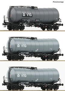 Roco 76126 Set De 3 Wagon Kink-citernes Vtg Db Ep V-vi Changement D'essieu