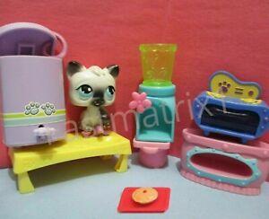 Littlest Pet Shop Lot 8 Random Kitchen Blender Washer Food Sweets Accessories