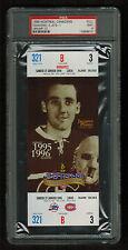 PSA 9  JACQUES PLANTE 1996 Full Hockey Ticket Last Season at The Montreal Forum
