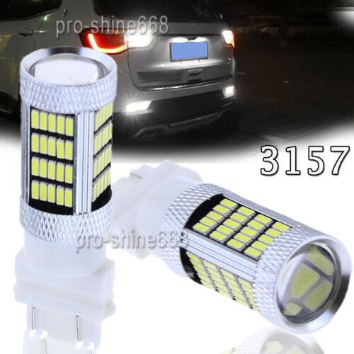 2X 6000K White 3156 3157 92SMD 4014 High Power LED Backup Reverse Light Bulbs
