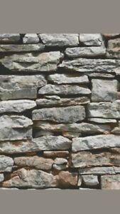 MOROCCAN-WALL-NATURAL-SLATE-STONE-WALLPAPER-ARTHOUSE-VIP-623000-GREY-BRICKS
