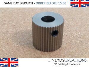 40 Dents 5 Mm Alésage Mk7/8 Extrudeuse Engrenage En Acier Inoxydable Ctc Imprimante 3d Partie-afficher Le Titre D'origine