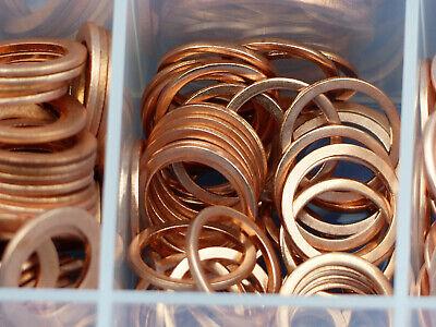 100 Stück Kupferringe Dichtringe 4x8x1 mm M 4