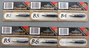 Osmiroid-Specialist-Nib-Units-22ct-gold-plated-B2-to-B6-amp-Copperplate-sizes