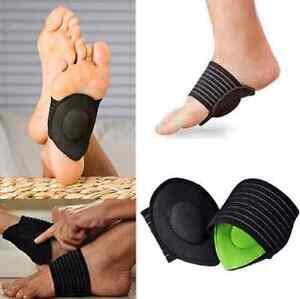 1Pair-Sport-Cushioned-Arch-Foot-Support-Brace-Decrease-Plantar-Fasciitis-Pain-US