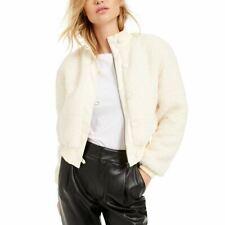 Becca Tilley Bar Iii New Womens Cropped Faux Fur Bomber Jacket Top Xl Tedo