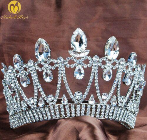 Miss Beauty Pageant Tiara Hair Crown Crystal Rhinestone Headband Bridal Prom New