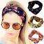 Fashion Women Yoga Elastic Rabbit Ear Bow Turban Floral Twisted Knotted Headband