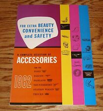 1962 Ford Accessories Brochure 62 Falcon Fairlane Thunderbird Station Wagon