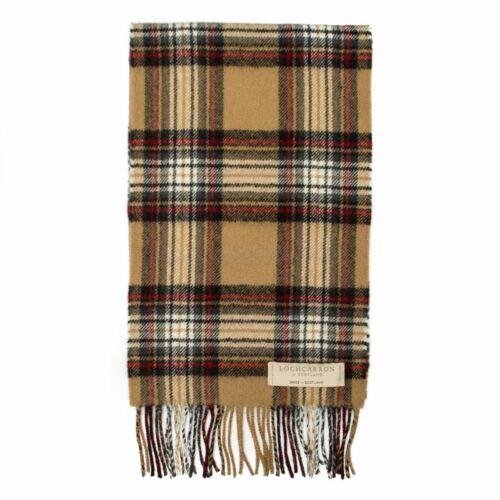 Stewart Camel Scottish Lochcarron Wool Tartan Scarf