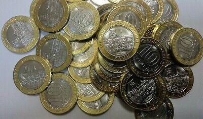 bi-metal 2019 10 rubles UNC Russia Клин Town New Klin