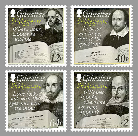 GIBRALTAR 2014  William Shakespeare   mnh/postfris c
