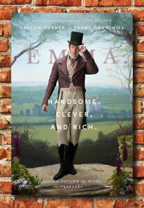 X541 Emma Movie 2020 Fabric Poster Art 24x36 32x48