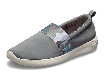 Crocs NEW Literide Graphic slip on grey