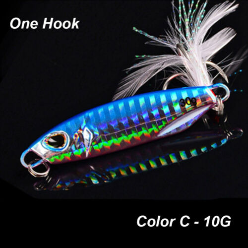 40g 50g Minnow Feather Metal Fishing Lures Jig Bait Lead Casting Spinning Baits