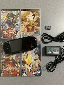 SONY-PSP-3000-One-Piece-Romance-Dawn-Edition-Console-with-4games-Japan