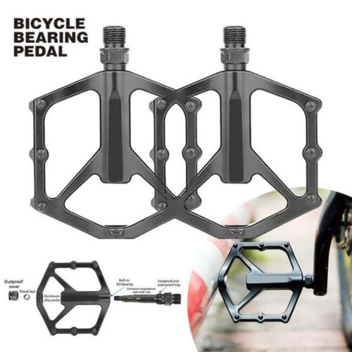 Details about  /Universal 1Pair Bicycle Road Mountain Bike Pedals Aluminum Alloy Black Anti-Slip