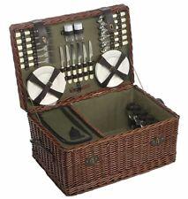 Luxury 6 Person Willow Picnic Hamper Basket