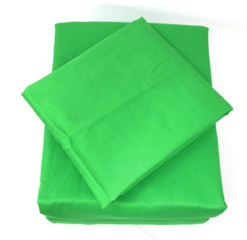 Tache 100/% Cotton Solid Vibrant Neon Lime Green Deep Pocket Fitted Sheet Only