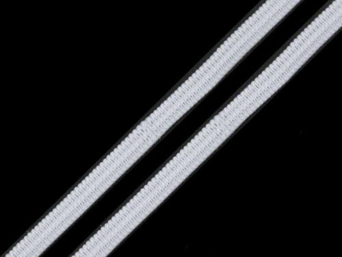 10m plana de goma-cinta elástica-goma cordel-máscaras de goma 0,50 €//m 3mm-blanco