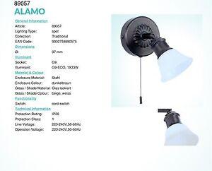 ALAMO-spot-con-int-1-luce-da-40W-G9-brunito-vetro-beige-EGLO-89057