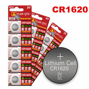 5Pcs-3-Volt-CR1620-Button-Cells-Coin-Batteries-for-Watch-Camera-RC-Sturdy