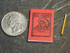BIG CHIEF TABLET WITH PENCIL DOLL HOUSE MINIATURE