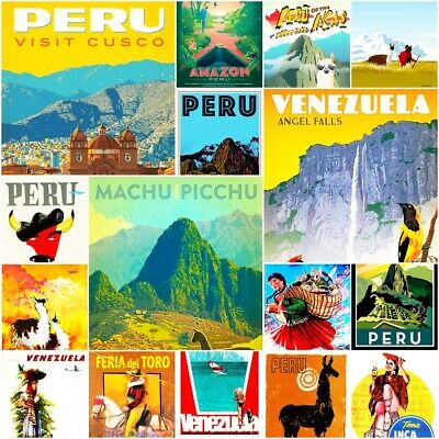 "Machu Picchu Peru 2/"" X 3/"" Fridge Locker Magnet."