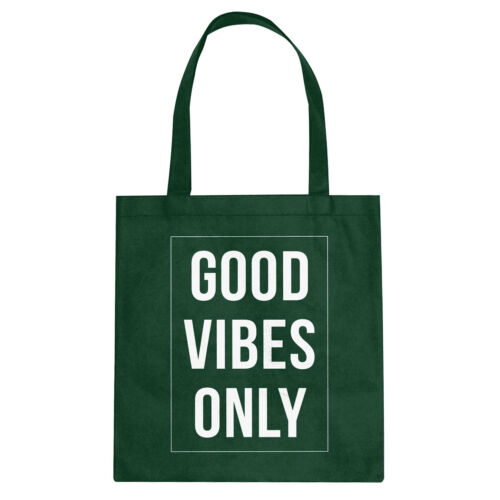 Good Vibes Only Cotton Canvas Tote Bag #3380