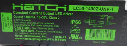 Hatch LC50-1400Z-UNV-T LED Driver 1400mA 18-36V