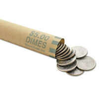 Mmf Industries™ Nested Preformed Coin Wrappers Dimes $5.00 Green 1000 Wrappers on sale