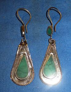 Earrings-Teardrop-Malachite-or-Turquoise-Afghan-Kuchi-Tribal-Alpaca-1-1-4-034