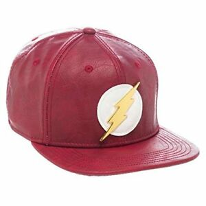 e8a5aa0139199d Image is loading Bioworld-Official-DC-Comics-Flash-Faux-Leather-Snapback-