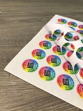 Custom Printed 24mm Round Paper Sticker Labels Personalised Full Colour