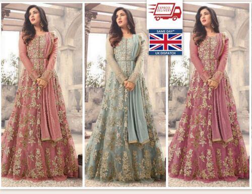 Designer anarkali salwar kameez suit ethnic Bollywood pakistani dupatta party UK