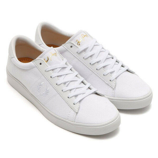 Fred Perry Men's Spencer Canvas Shoes Trainers B7523-200 - White