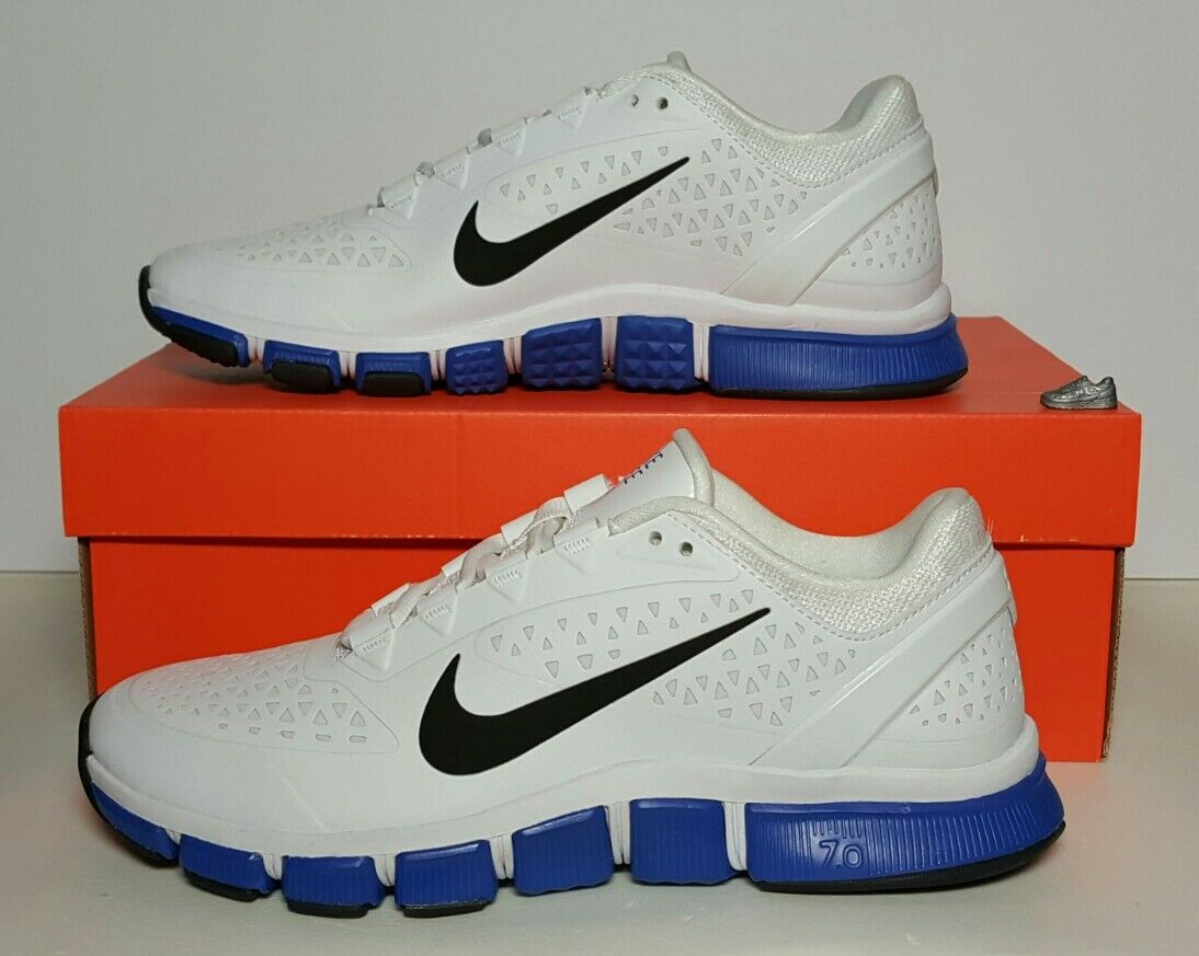 NIKE MEN'S FREE TRAINER 7.0 NEW BOX SIZE 18 WHITE blueeE BLACK 524311 100