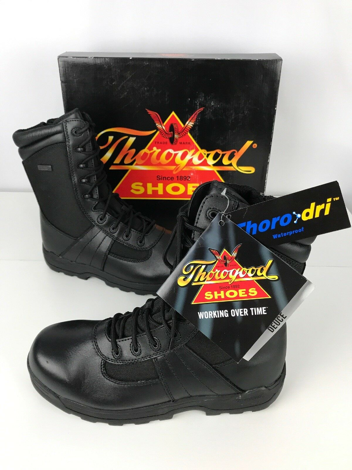 CAT CATERPILLAR Men Manifold WP Tough Brown Steel Toe Boot Shoes Sz 10 ZT-274